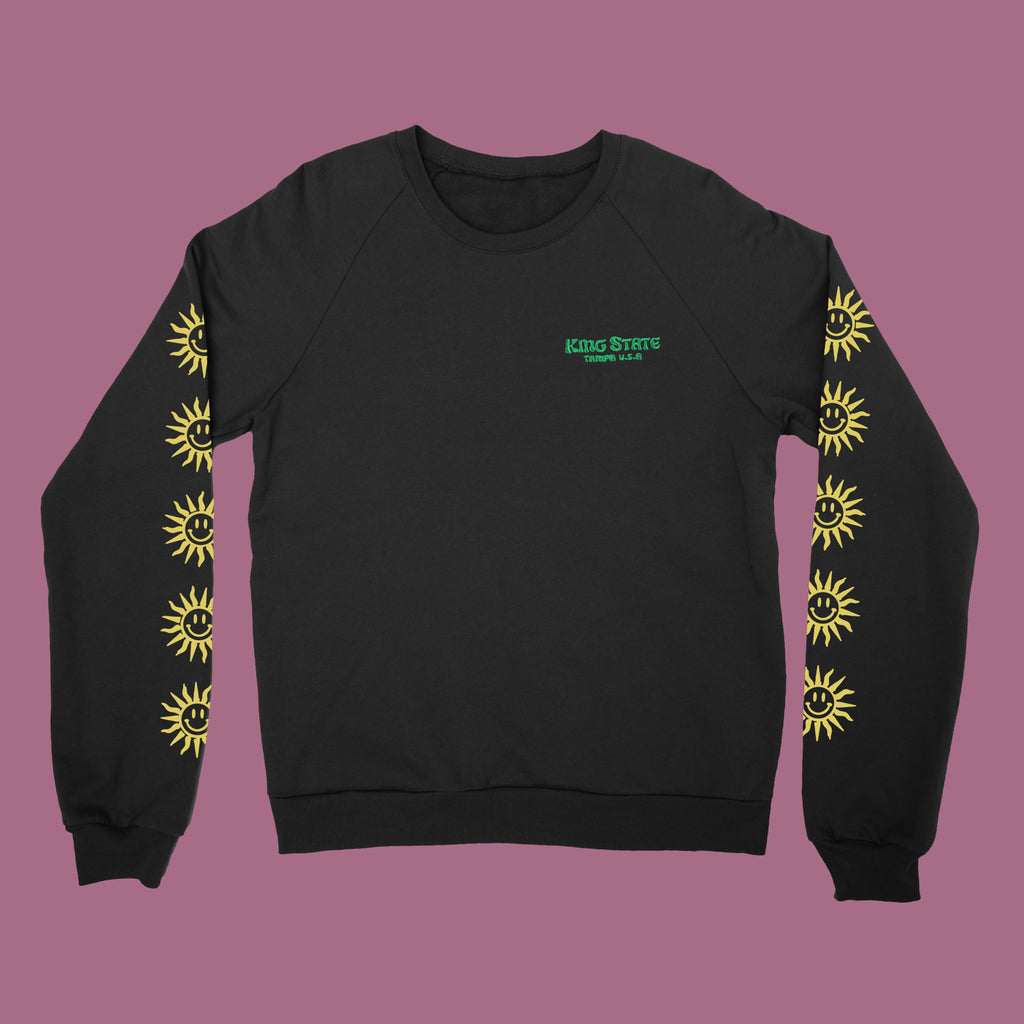King State - Embroidered Crew Neck Sweater
