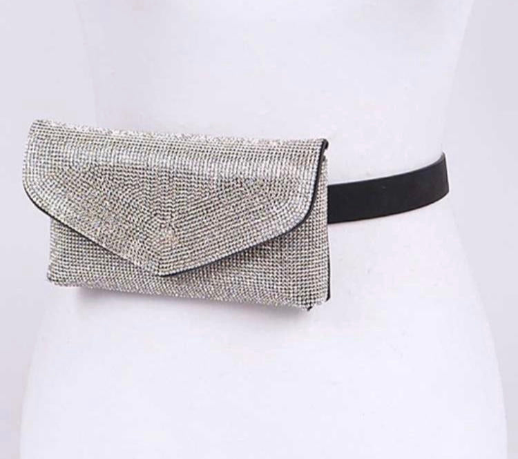 Crystal Studded Belt Bag