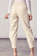 Side Pegged Casual Pants, ECRU