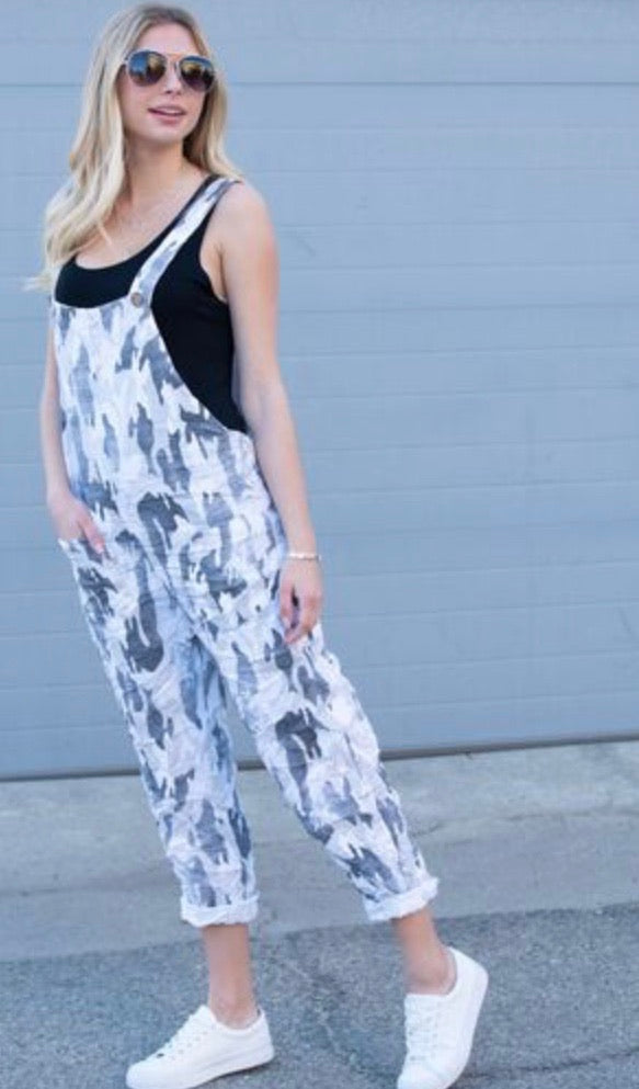 White Camouflage Overall