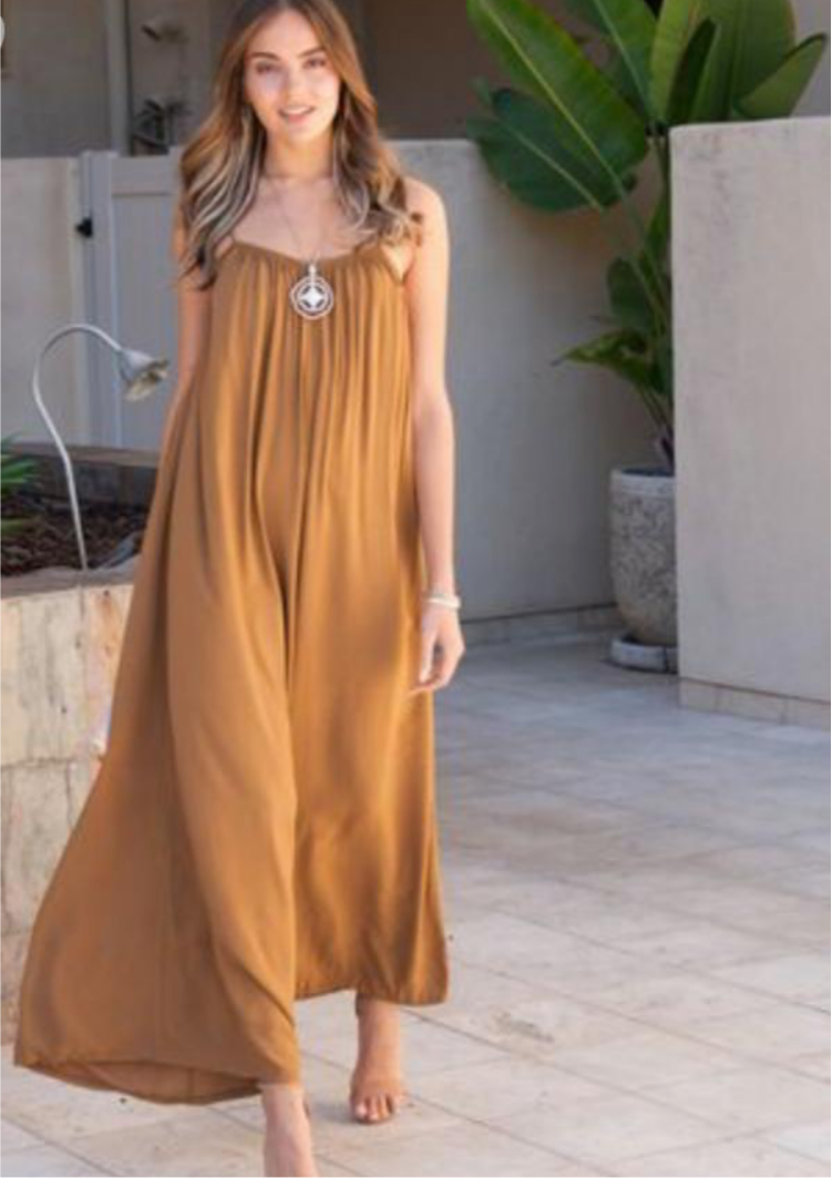 Tobacco Wide Leg Jumpsuit