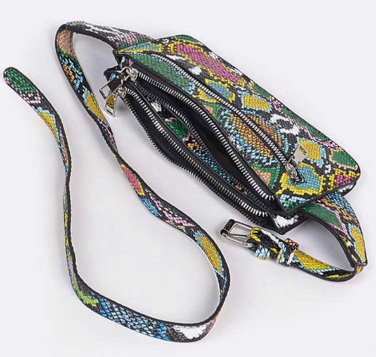 Snake Multi Color Fanny Pack