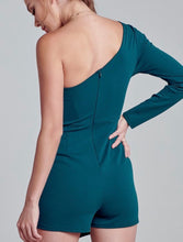 Hunter Green One Shoulder Romper