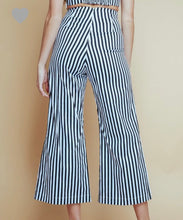 Striped Lace Up Pants