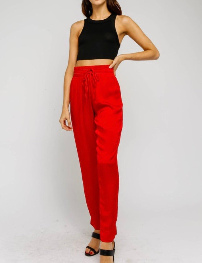 Holiday Red Jogger Pant
