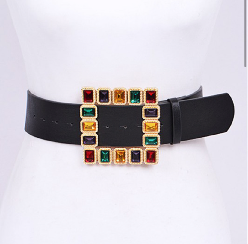 Crystal Multi Color Iconic Belt