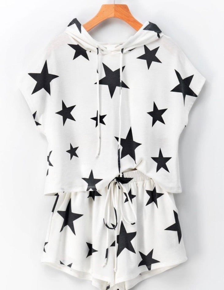 STAR Graphic Hoodie Set