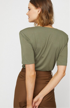 Olive Cowl Neck Top
