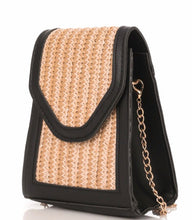 Black & Straw Crossbody bag