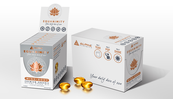 EQUANIMITY - Premium Organic Reishi Spore Oil Softgel (7 Day Pack) - Alpha Dynamics