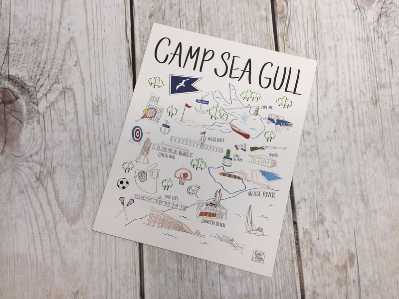 Camp Sea Gull Map