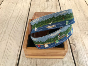 Camp Scenery Belt-Needlepoint by Smather's & Branson