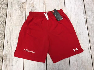 Camp Sea Gull Under Armour Soccer Shorts-Youth-Red