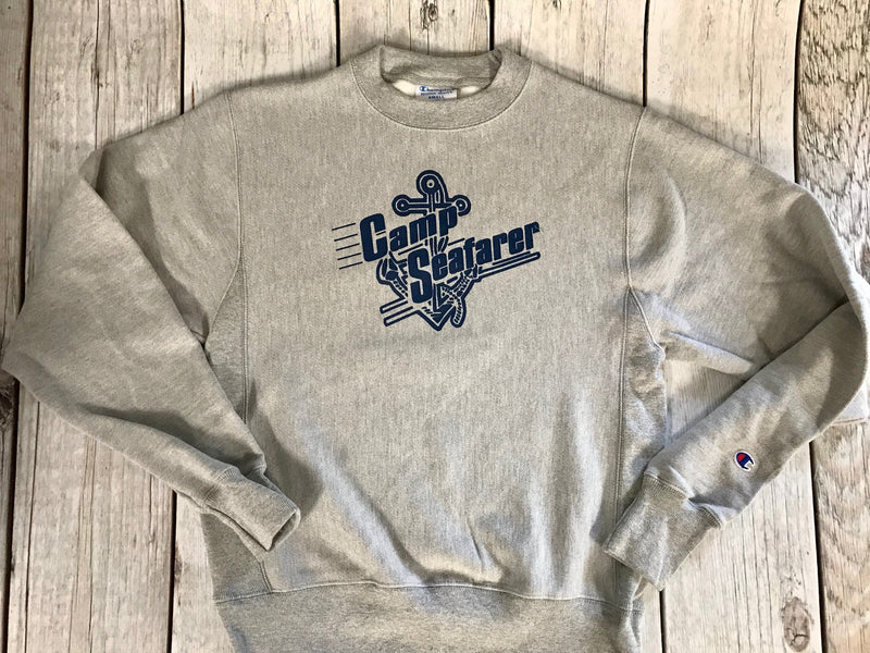 Camp Seafarer Crew Sweatshirt-Adult Vintage Logo NEW!