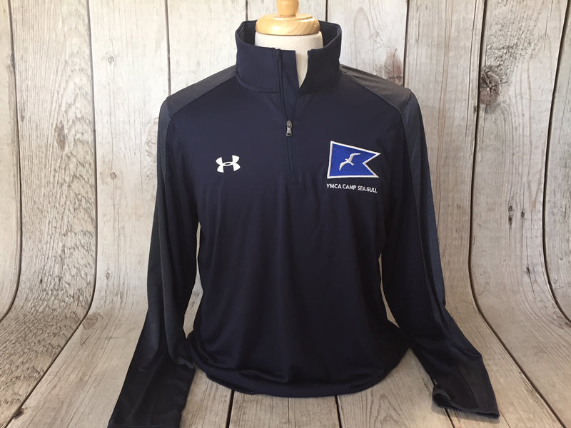 Camp Sea Gull Under Armour Novelty Locker 1/4 Zip-Adult-Navy