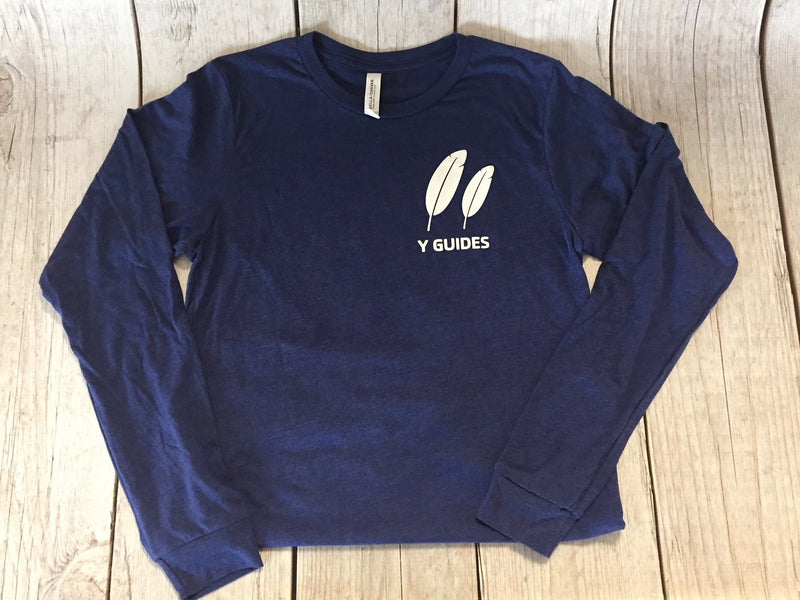 Y Guide Long Sleeve T-Shirt-Adult-Navy