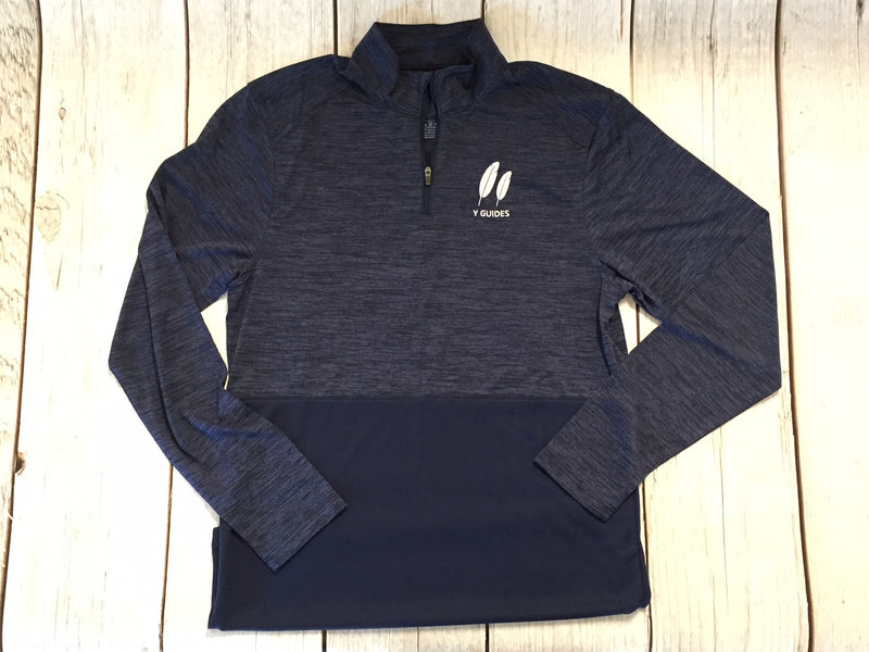 Y Guides Navy Performance 1/4 Zip