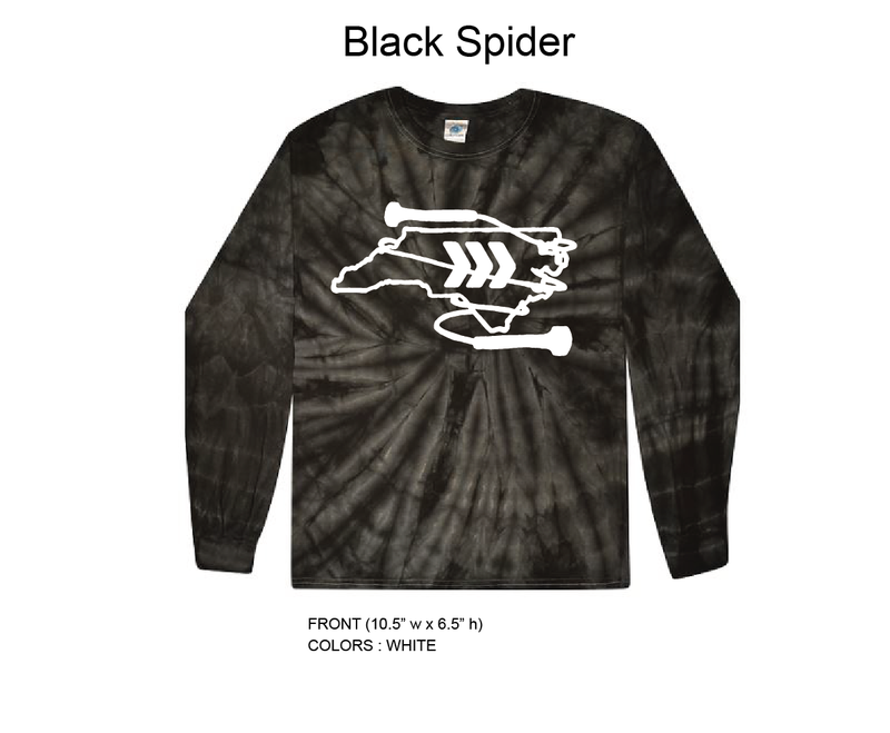 Super Skippers Long Sleeve Black Tie Dye T-Shirt