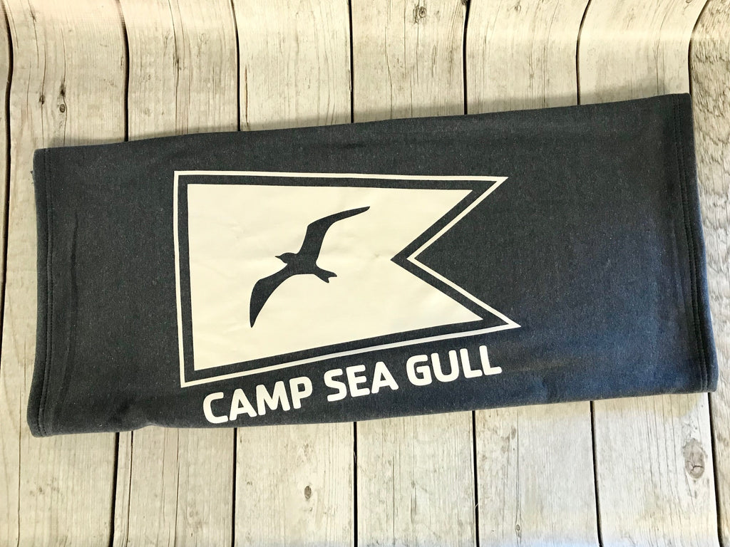 Camp Sea Gull Sweatshirt Throw