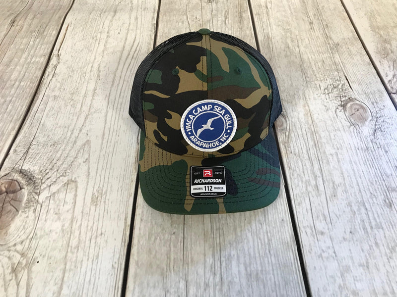 Camp Sea Gull Trucker Hat-Camo