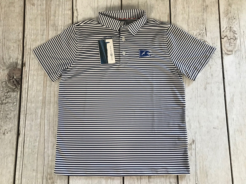 Camp Sea Gull Striped Polo Shirt-Youth
