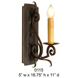 Other Metal Sconce - 0115Sconce - Graham's Lighting Memphis, TN