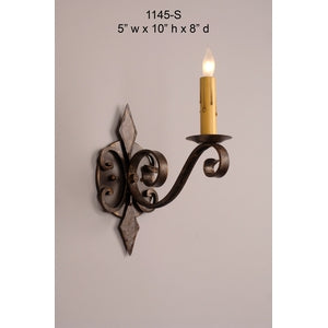 Other Metal Sconce - 1145-SSconce - Graham's Lighting Memphis, TN