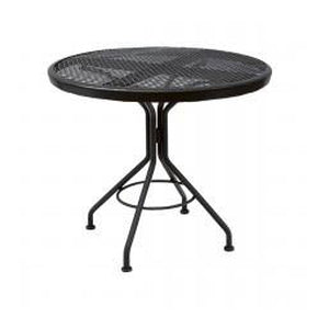 "30"" Round Iron Outdoor Dining Mesh Table"