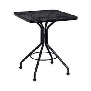 "24"" Square Mesh Outdoor Dining Bistro Table Black"