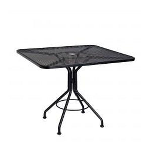 "Black 36"" Sqaure Bistro Mesh Outdoor Table"