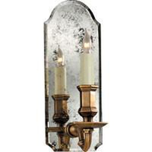 22G-CHD1171 AM/AB -  E. F. Chapman Kensington Small Single Sconce In Antique Mirror With Antique BrassSconces - Graham's Lighting Memphis, TN