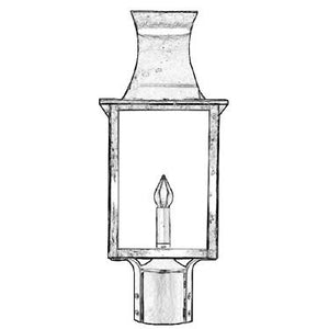 Outdoor Lighting - 3610Pier/Post Lantern - Graham's Lighting Memphis, TN