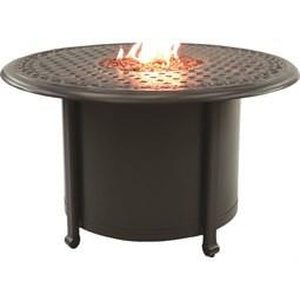"38"" Sienne Round Fire Pit Coffee Table Rosetta TopFire Pits - Graham's Lighting Memphis, TN"