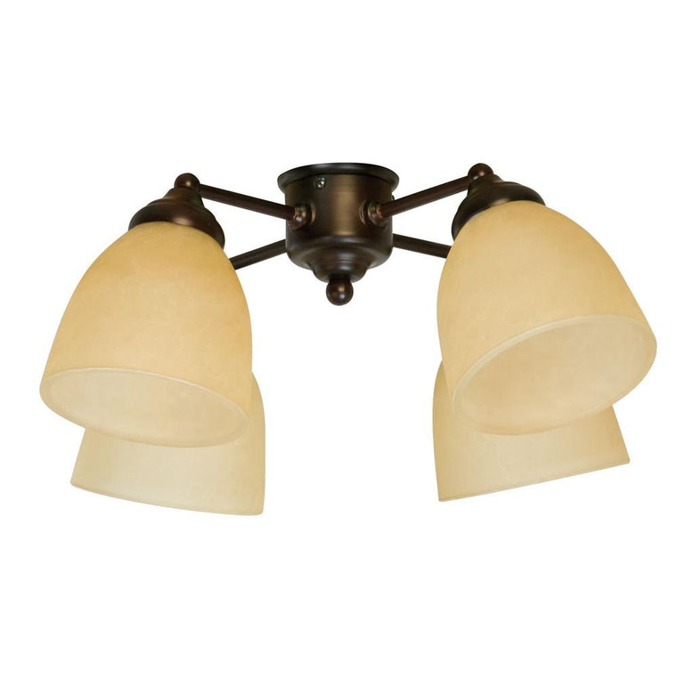 3T-LK400CFL OB-WG - Spot Light 4 Light Oiled Bronze Light KitFans - Graham's Lighting Memphis, TN