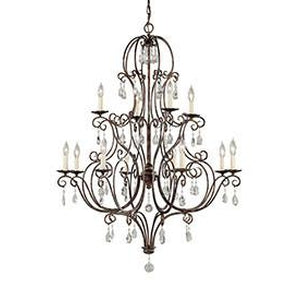 6L-F1938/8+4MBZChandelier - Graham's Lighting Memphis, TN