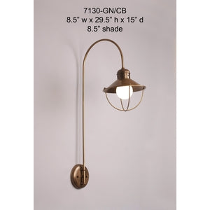 Brass Sconce - 7130-GN/CBSconce - Graham's Lighting Memphis, TN