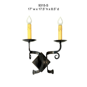 Other Metal Sconce - 9315-SSconce - Graham's Lighting Memphis, TN