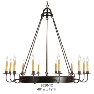 Other Metal Chandelier - 9650-12Chandelier - Graham's Lighting Memphis, TN