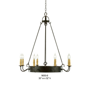 Other Metal Chandelier - 9650-8Chandelier - Graham's Lighting Memphis, TN