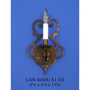 Brass Sconce - CAN-0008/A1-03Sconce - Graham's Lighting Memphis, TN