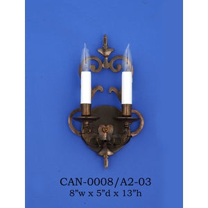Brass Sconce - CAN-0008/A2-03Sconce - Graham's Lighting Memphis, TN