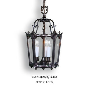 Brass Lantern and Pendant - CAN-0259/3-03Pendant - Graham's Lighting Memphis, TN