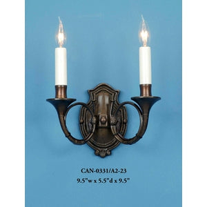 Brass Sconce - CAN-0331/A2-23Sconce - Graham's Lighting Memphis, TN