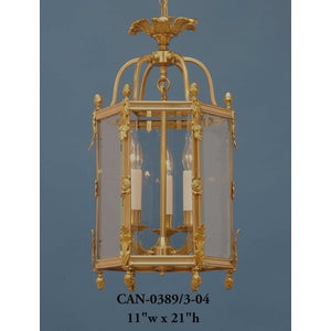 Brass Lantern and Pendant - CAN-0389/3-04Pendant - Graham's Lighting Memphis, TN