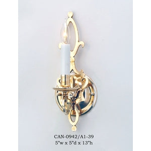 Brass Sconce - CAN-0942/A1-39Sconce - Graham's Lighting Memphis, TN