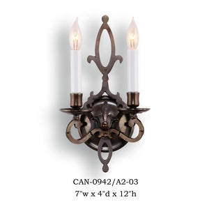Brass Sconce - CAN-0942/A2-03Sconce - Graham's Lighting Memphis, TN