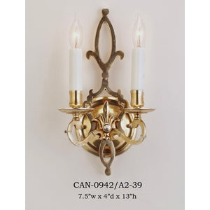 Brass Sconce - CAN-0942/A2-39Sconce - Graham's Lighting Memphis, TN