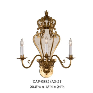 Other Metal Sconce - CAP-0882/A3-21Sconce - Graham's Lighting Memphis, TN