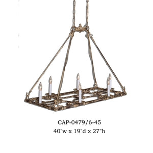 Other Metal Chandelier - CAP-0479/6-45Chandelier - Graham's Lighting Memphis, TN