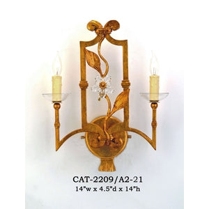 Other Metal Sconce - CAT-2209/A2-21Sconce - Graham's Lighting Memphis, TN